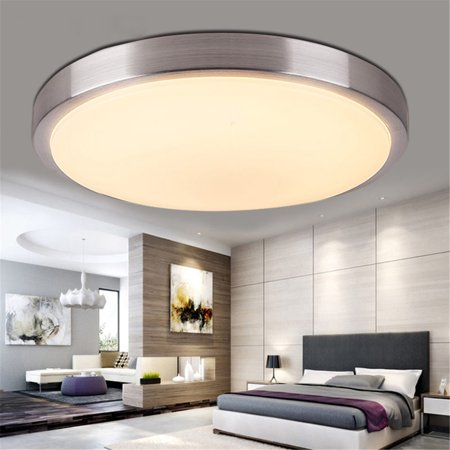 Down Lighting Fixture (12/24W Round LED Ceiling Light Warm White Dimming Ceiling Down Light 100-240V Surface Mount Fixture for Living Room Bedroom Home Decor)
