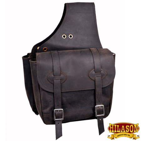 Tucker Trail Saddles - Hilason Leather Chap Leather Horse Saddle Bag for trail