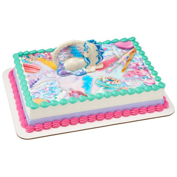 Prime Enchanting Unicorn Decoset With 1 4 Sheet Edible Cake Topper Personalised Birthday Cards Paralily Jamesorg