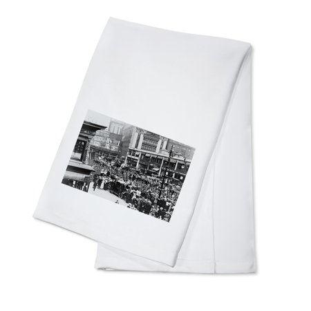 Parade of Soldiers on Broadway, NYC Photograph (100% Cotton Kitchen Towel) (Halloween Parade Nyc)