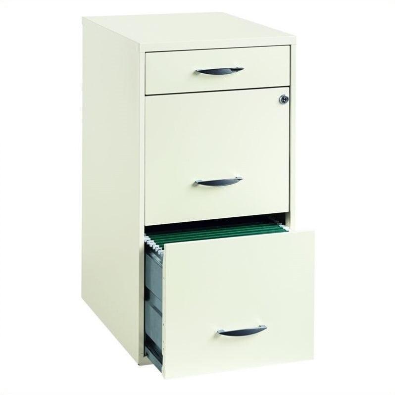 Hirsh Industries 3 Drawer Steel File Cabinet in White - Walmart.com