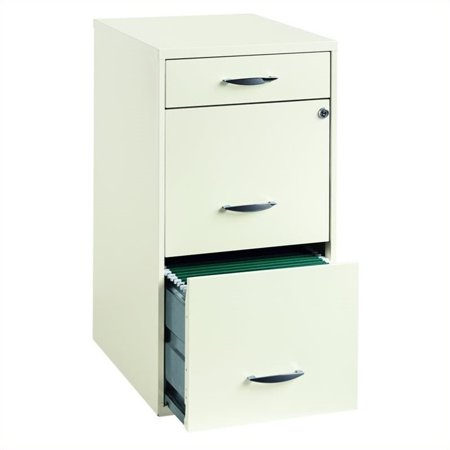 Hirsh Industries Drawer Steel File Cabinet In White Walmartcom - 4 drawer steel filing cabinet