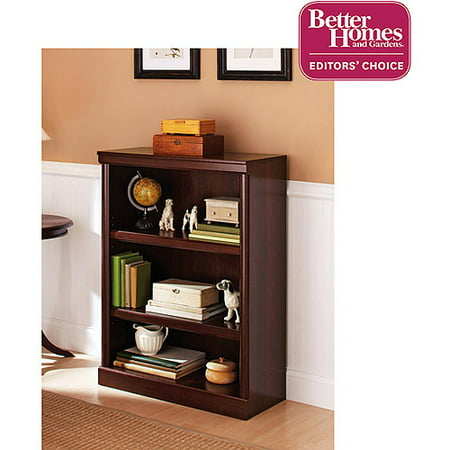 Deluxe Cherry Finish ((Set of 2) Better Homes & Gardens Ashwood Road 3 Shelf Bookcase, Cherry)