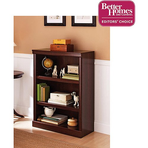 "Better Homes & Gardens 39"" Ashwood Road 3-Shelf Bookcase, Cherry Finish"