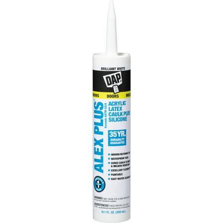 Dap 18152 11 Oz White Alex Plus ® Acrylic Latex Caulk With Silicone