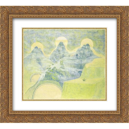 - Mikalojus Ciurlionis 2x Matted 22x20 Gold Ornate Framed Art Print 'Finale (Sonata of the Serpent)'