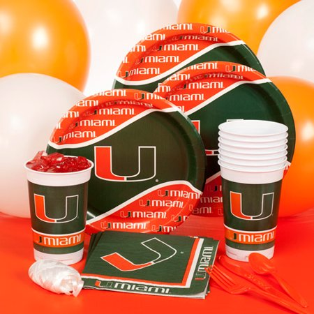 University Of Miami Party Pack For 8 - Walmart com