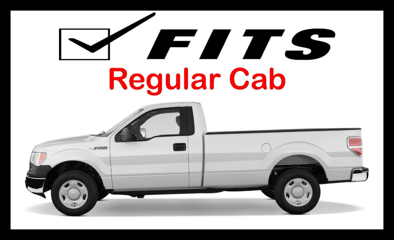 Ionic 3 Stainless 212407 2004-2008 Ford F150 Regular Cab Only Nerf Bars Side Steps Fits