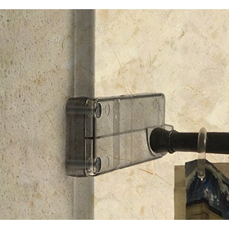 Wall Mounted Bathroom Shower Curtain Rod Holder Designed For Tile Showers Molded This Innovative System Keeps