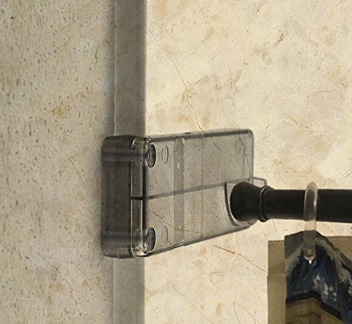 Wall Mounted Bathroom Shower Curtain Rod Holder Designed For Tile Showers,  Molded Wall Mounted Bathroom