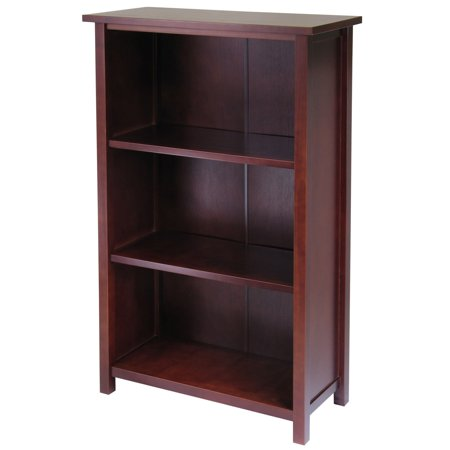Milan 4-Shelf Bookcase, Antique Walnut