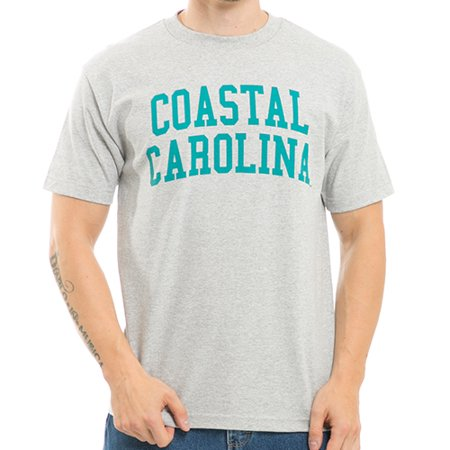Carolina University Car (Coastal Carolina University, XL  - NCAA, Game Day Mens Tee T-Shirt - W Republic - Heather Grey )