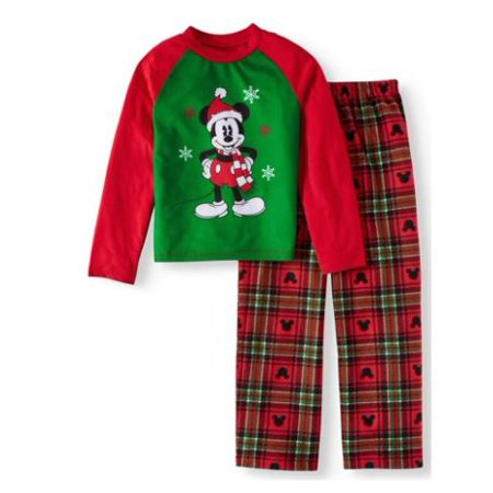 Disney Mickey Mouse Holiday Family Sleep Pajamas, 2-piece Set (Little Boys & Big Boys)