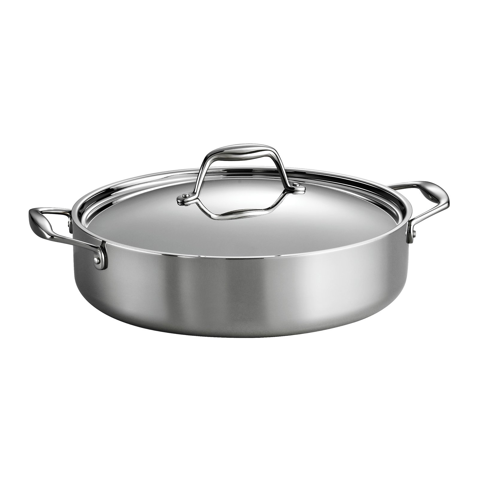 Tramontina Gourmet Tri-Ply Clad 5-Quart Covered Braiser by Tramontina