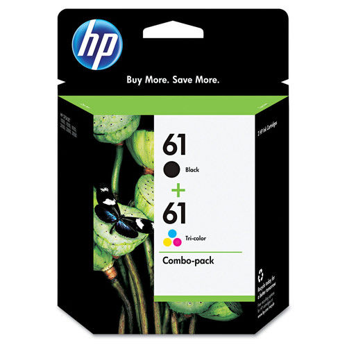 HP 61, (CR259FN) 2-pack Black/Tri-Color Original Ink Cartridges