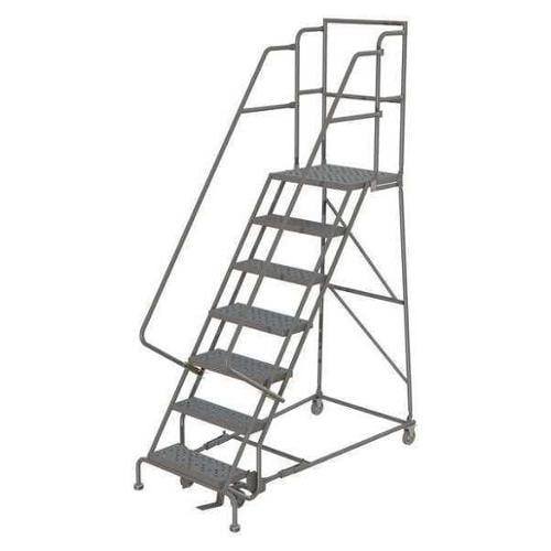 TRI-ARC KDSR107162-D2 Rolling Ladder,7 Step,Steel,Serrated G0979207