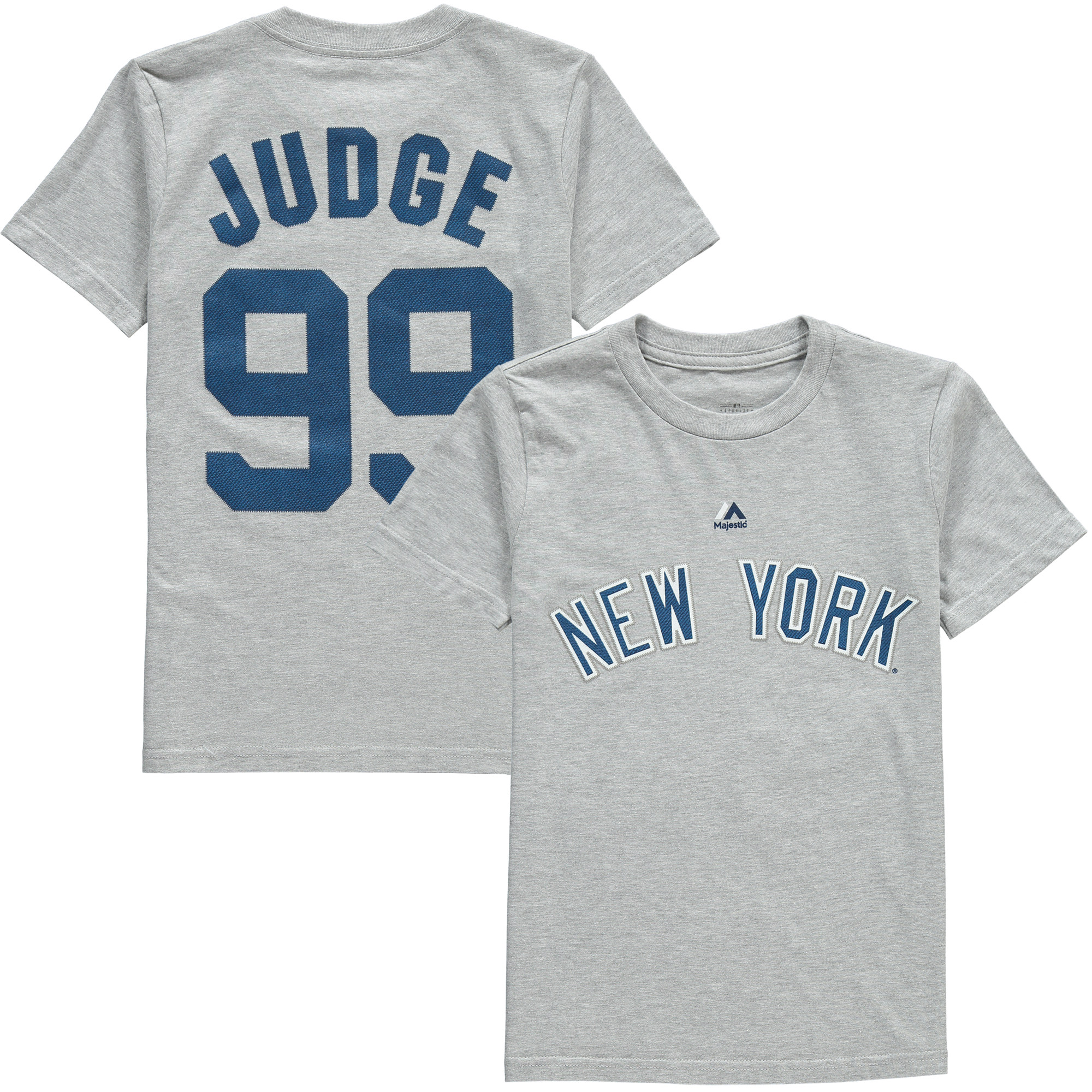 Aaron Judge New York Yankees Majestic Youth Name & Number T-Shirt - Gray