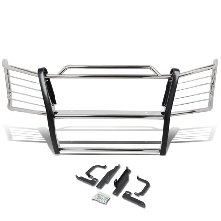 For 2003 to 2007 Chevy Silverado 1500 HD / 2500 Front Bumper Protector Brush Grille Guard (Chrome) 04 05