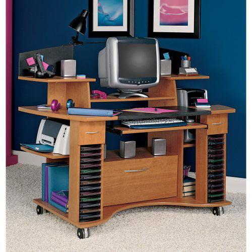 Bush Jagger Mobile Computer Desk With File Cabinet