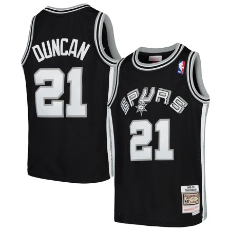 Tim Duncan San Antonio Spurs Mitchell & Ness Youth Swingman Throwback Jersey - - Jets Throwback Jersey