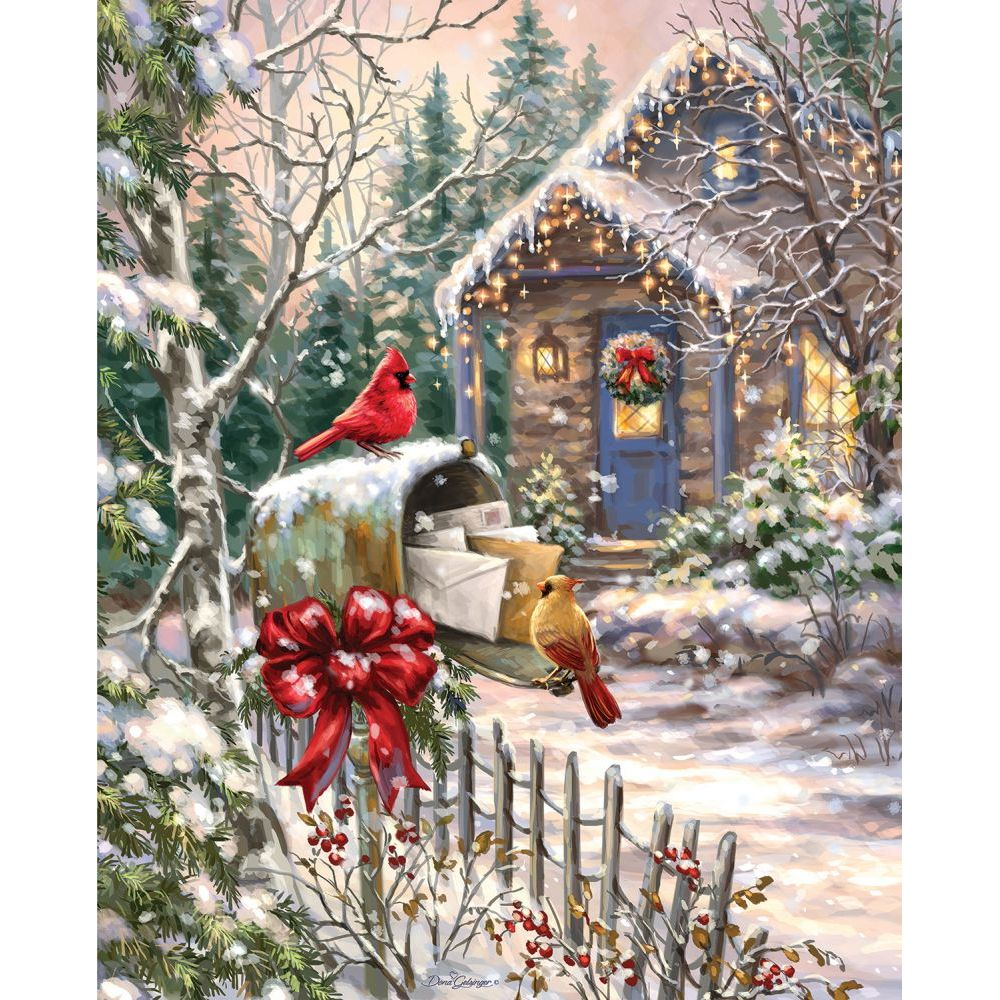 Cardinal Cottage CC Excl 1000 Piece Puzzle,  Puzzles by Allied Products