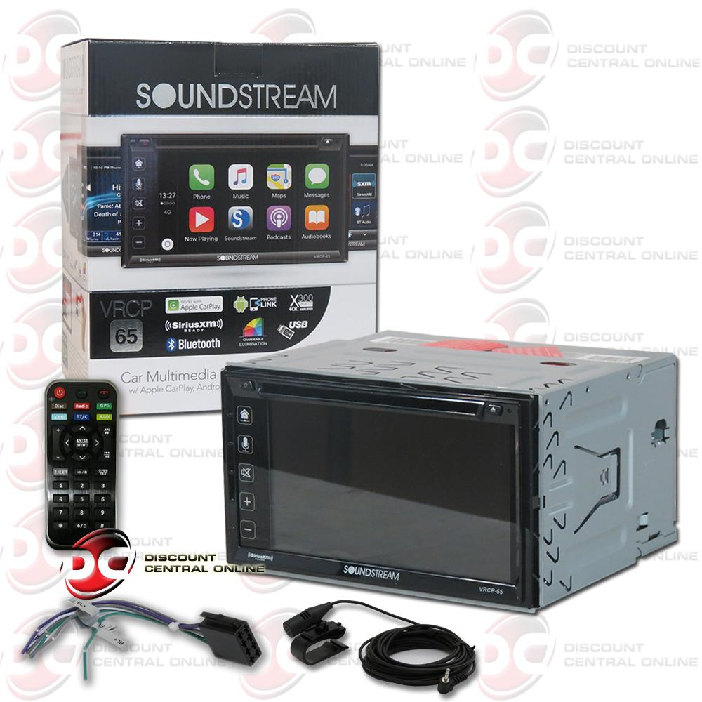 Brand New SoundStream VRCP-65 Car Audio Multimedia Receiver With AM FM CD DVD Bluetooth AUX GPS  Sirius Ready... by Soundstream