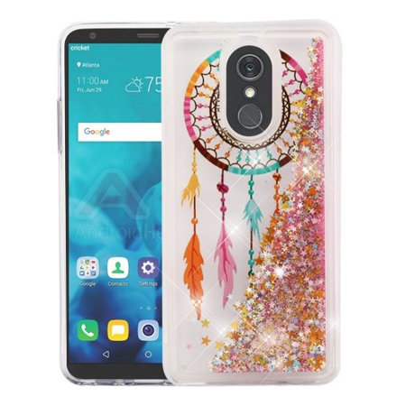 the best attitude 7af9c 43fd8 Phone Case for Lg Stylo 4 - Phone Case BLING Hybrid Liquid Glitter  Quicksand Rubber Silicone Gel TPU Protector Hard Cover - Dreamcatcher