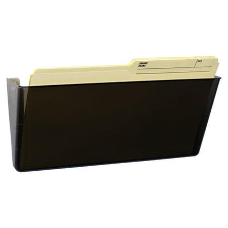Storex Unbreakable Magnetic Wall File, Letter/Legal, 16 x 7, Single Pocket, Smoke -STX70326U06C