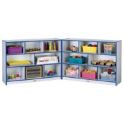 Jonti-Craft Rainbow Accents Super-Sized Folding 16 Compartment Shelving Unit with Casters