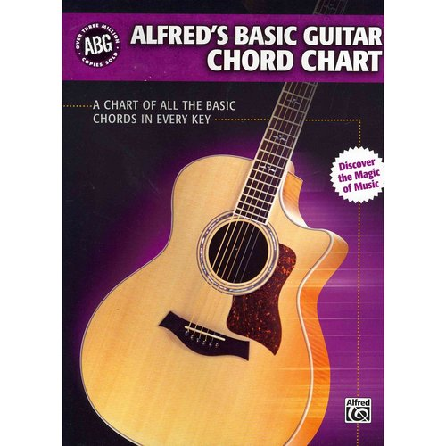 Alfred's Basic Guitar Chord Chart: A Chart of All the Basic Chords in Every Key by