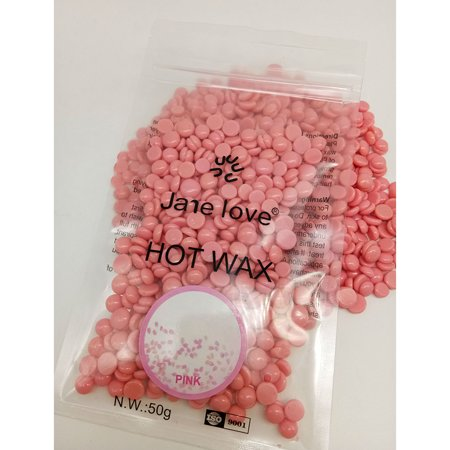 50g Beauty Hair Removal Hard Wax Beans, Free-paper Granules Hot Film Wax Bead for Face Underarms Arm Leg