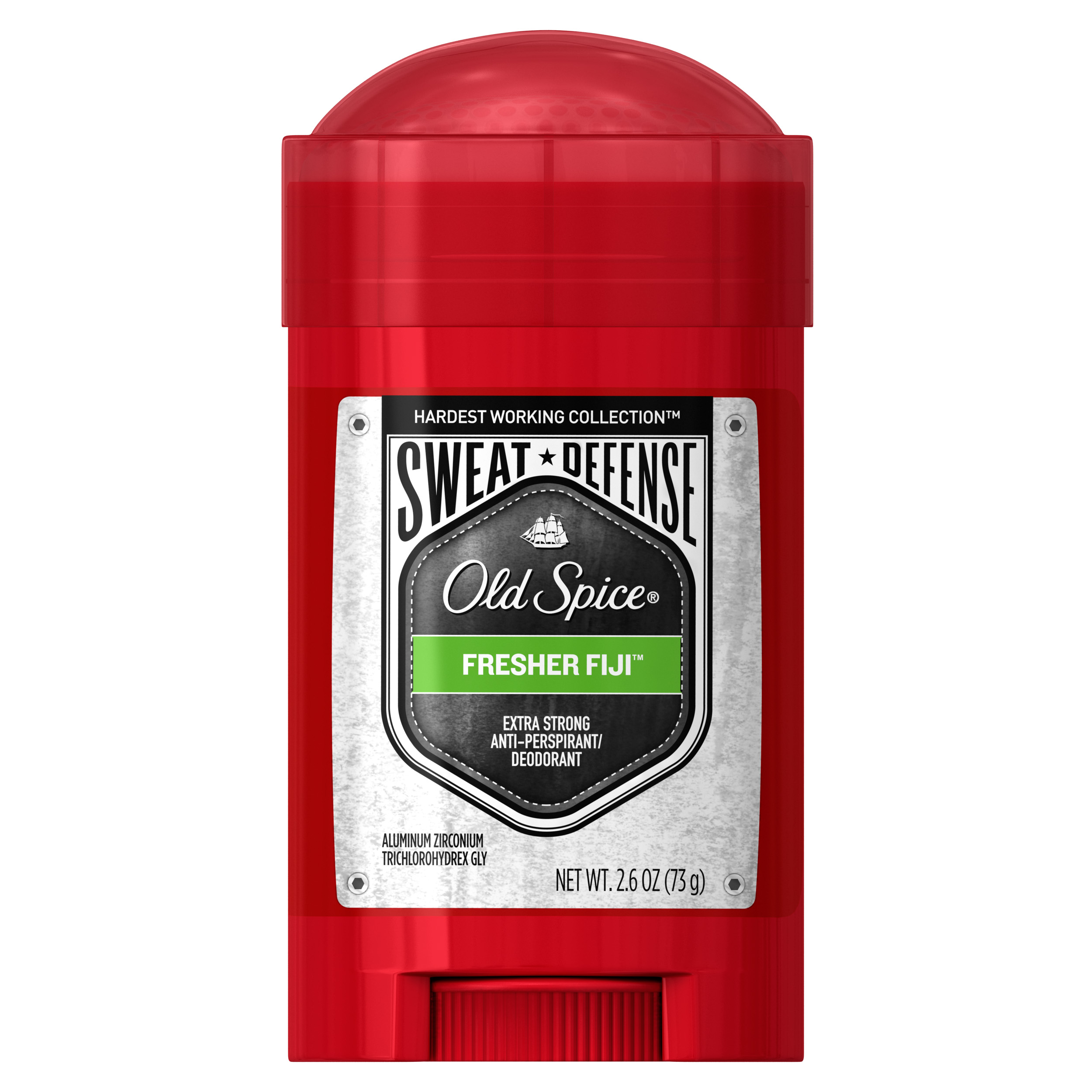 Old Spice Hardest Working Collection Sweat Defense Anti-Perspirant & Deodorant Fresher Fiji 2.6 oz