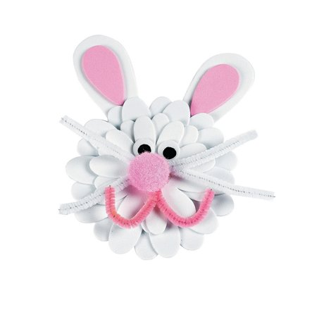 Fun Art And Crafts For Halloween (Fun Express - Foam Flower Bunny Magnet Craft Kit for Easter - Craft Kits - Stationary Craft Kits - Magnet - Easter - 12)