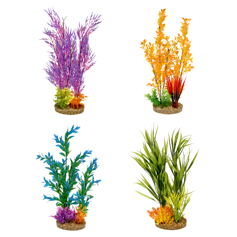Aqua Culture Aquarium Plant Decoration, X-Large, Assorted