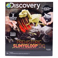 Discovery Prehistoric SLIMYGLOOP® Dig, Slime and Fossils, Ages 6+, Dig into Slime Tar-pit, Slime and 3D Fossil Puzzle Kit