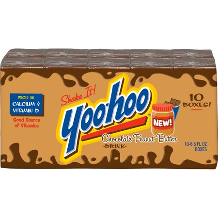 (Pack of 4) Yoo-hoo Chocolate Peanut Butter Drink, 6.5 fl oz Boxes, 10 Count ()