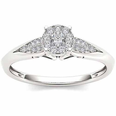 imperial 16 carat tw diamond 10kt white gold engagement ring - Walmart Jewelry Wedding Rings