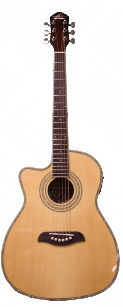 Oscar Schmidt Left Hand 3 4 Acoustic Electric Guitar, Lefty, Natural, OG1CELH by Oscar Schmidt