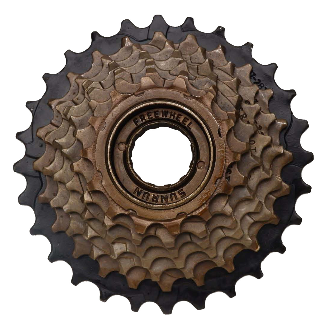 SunRun Eight Speed Freewheel, 13-34T, Nickel