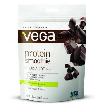 Vega Vegan Smoothie Powder, Chocolate, 9.2
