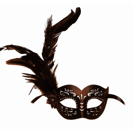 Brown Feather Mask (Brown Leather Mask with)
