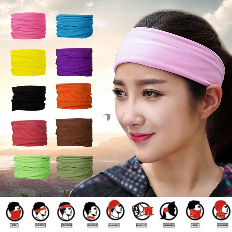 All in 1 Tube Scarf Bandana Head Face Mask Neck Gaiter Snood Wear Outdoor Cap