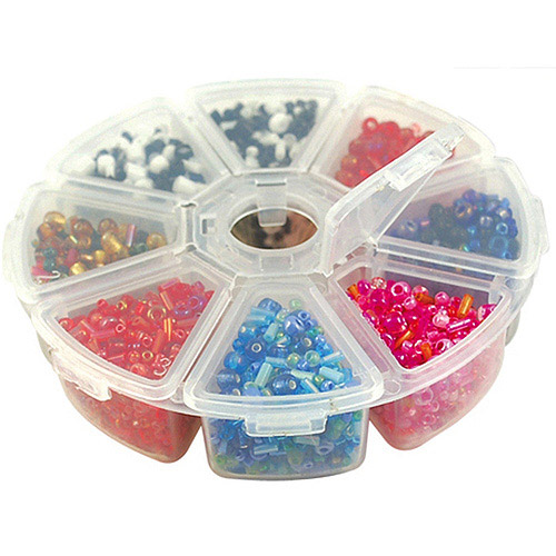 "Bead Storage Organizer Box, 4"", 8pk"