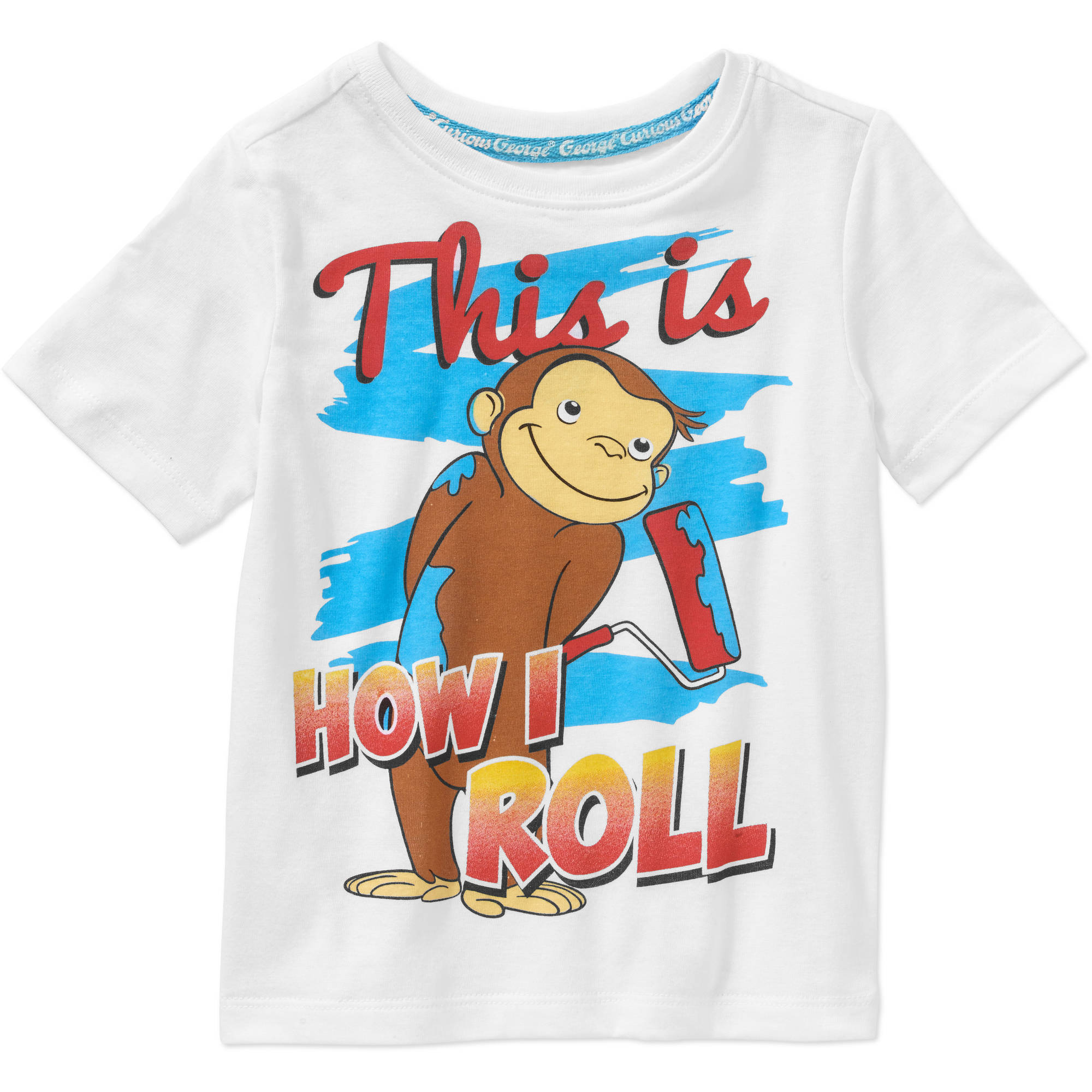 Curious George Toddler Boys' This Is How I Roll Graphic Tee Shirt