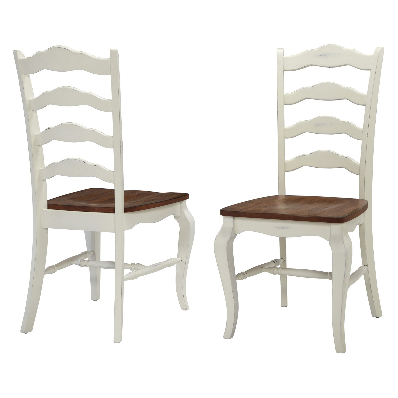 Home Styles French Countryside 2 Piece Oak Dining Chair Set, Off White