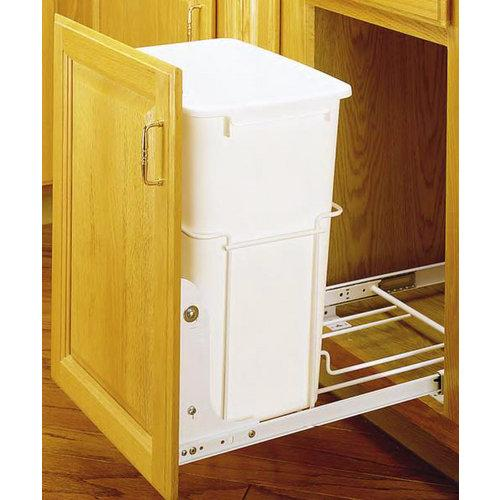 Rev-A-Shelf RV-18PB-1 1 Bin RV Trash Cans Pull Out, Mounting Hardware Not Included