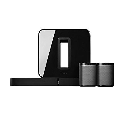 Sonos PLAYBASE Home Theater Set with PLAY:1 Speakers & SUB Wireless Subwoofer by Sonos