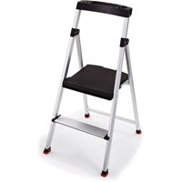 Rubbermaid 2-Step Lightweight Aluminum Step Stool with Project Top