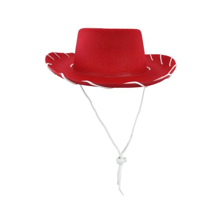 Child Western 1950's Style Kids Cowboy Ranch Hat, Red, One Size](Styrofoam Cowboy Hat)