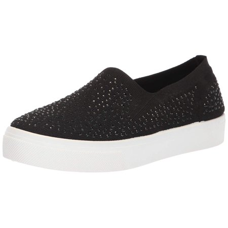 Skechers Women's Poppy Studded Affair. Scattered Rhinestud Knit, Black, Size 6.0